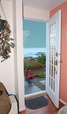 view from door of Sea Lion Suite