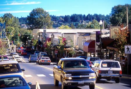 downtown Courtenay BC