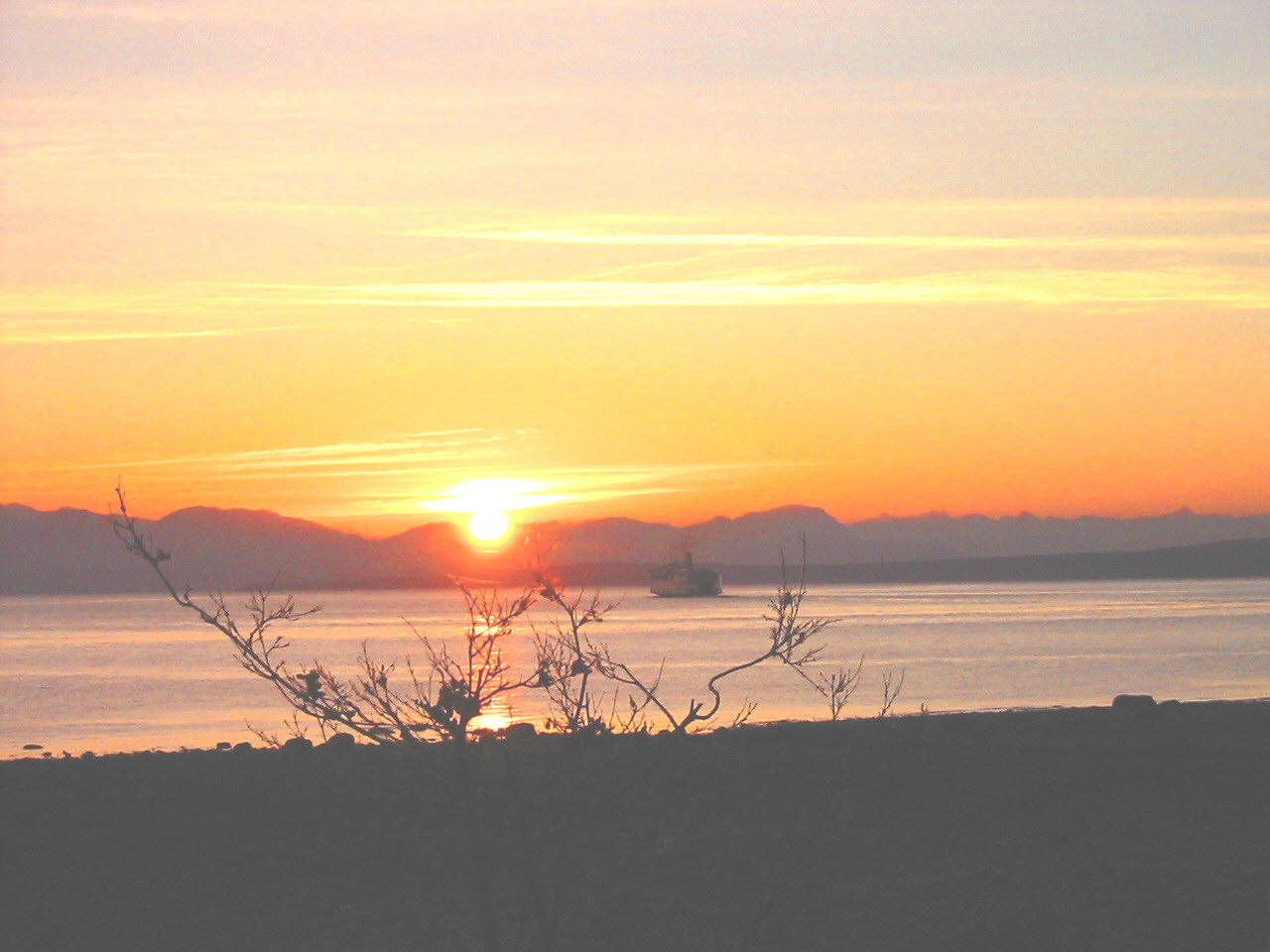 sunrise over BC Mainland